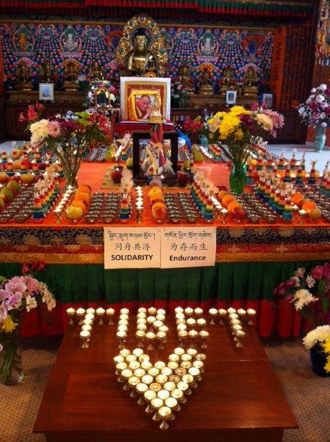 Alter commemorating Tibet